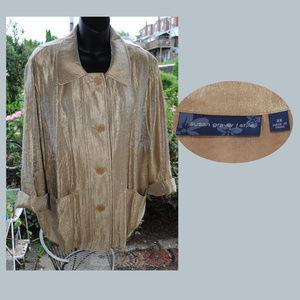SUSAN GRAVER EUC Jacket Blazer Topper Size 2X